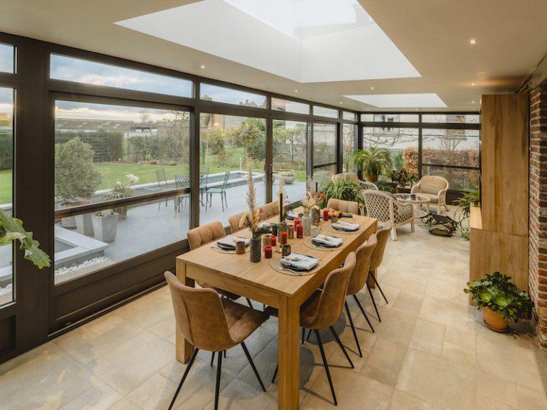 Realisatie <br>plat dak met 2 lichtstraten